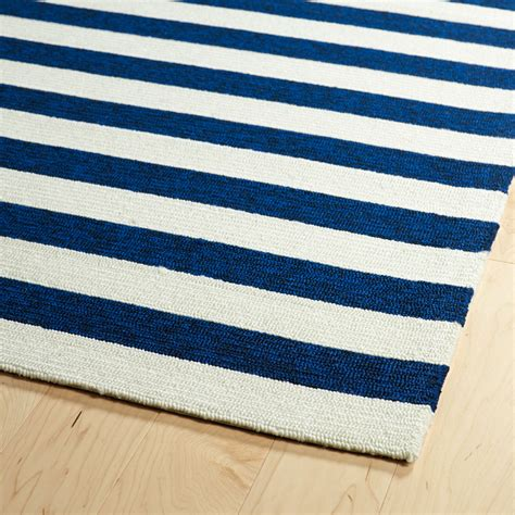 Escape Striped Rug In Navy Rosenberryrooms Com Striped Rugs
