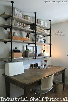 industrial pipe shelves tutorial they work great anywhere work it 15 inspiring ideas for a creative workspace modern desk desks and creative