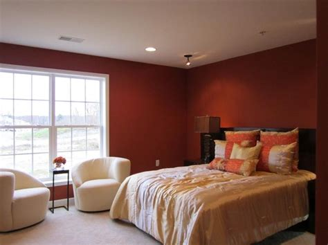 deep red bedroom a deep burnished red makes the master bedroom at our deer