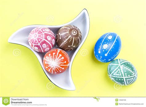 Easter Eggs Handmade - handmade easter eggs stock photo image 13320100