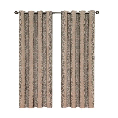 home depot curtain panels eclipse nadya blackout linen polyester curtain panel 63