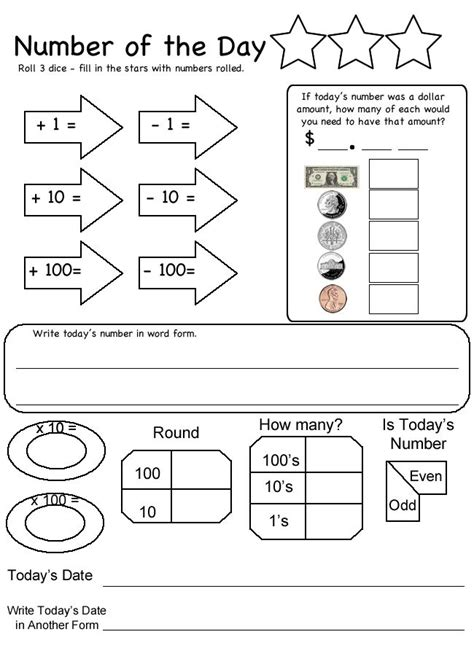 3rd grade daily math review worksheets daily math worksheets 4th grade math problems for second graders printable coffemix1000 ideas