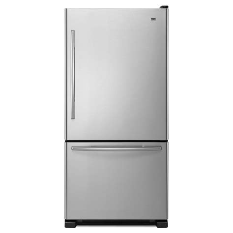 door refrigerator bottom freezer maytag mbr2258xes 21 9 cu ft bottom freezer