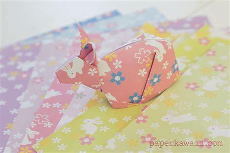 Origami Bunny Tutorial - origami bunny rabbit tutorial paper kawaii