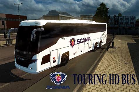 mod bus game ets2 scania touring hd bus mod v1 0 bus for ets2 ets2 mod