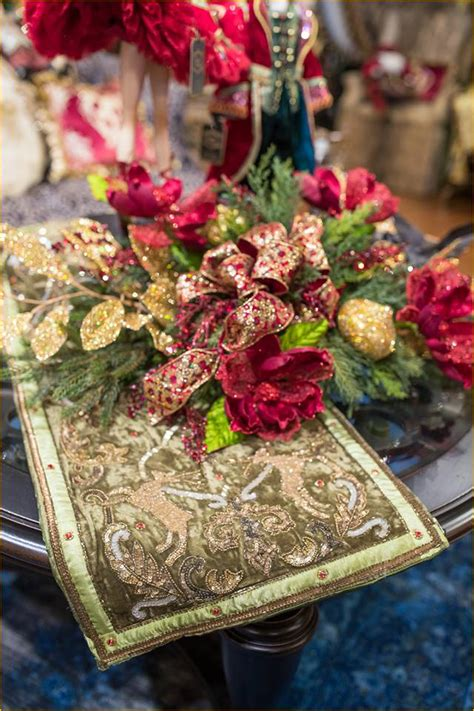 christmas holiday table runners linly designs
