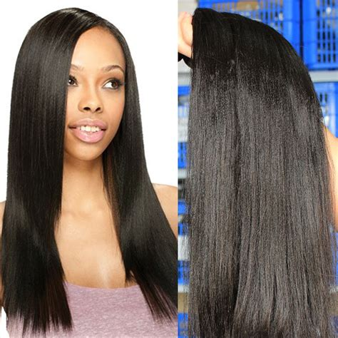 yaki human hair weave extensions light yaki human hair extensions unprocessed cheap 6a