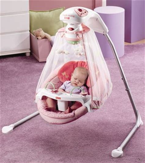 baby sleeping in swing the nappy valley years swing your baby to sleep