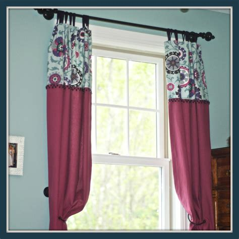 what type of fabric to make curtains how to sew curtains with two fabrics and detailing