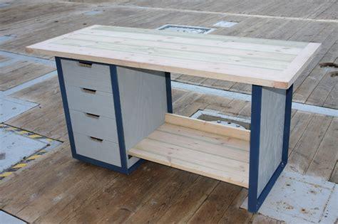 fabriquer tiroir etabli etabli acier et bois