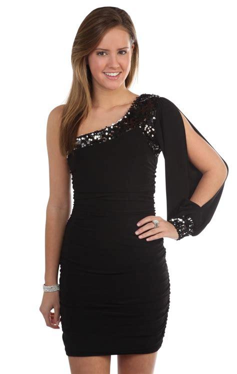 deb shops  tone  shoulder long sleeved sequin trim