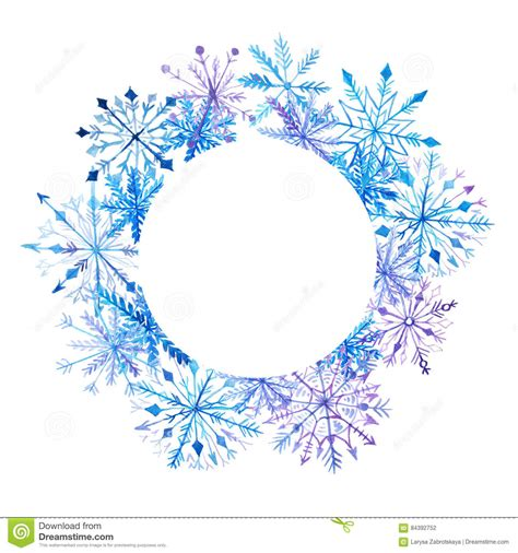 snowflake card template design templates print snowflake templates snowy blue