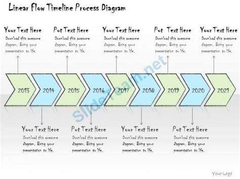 Timeline Flowchart Template 1113 business ppt diagram linear flow timeline process