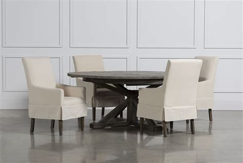 living spaces esszimmer sets combs 5 dining set w slip cover chairs