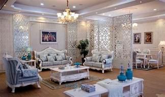 turque bleu et blanc tissu canap 233 meubles en bois massif