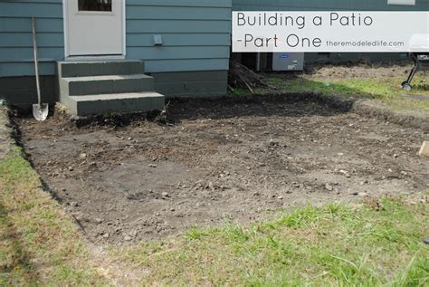 building a patio the remodeled building a patio part one digging