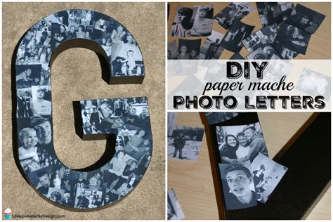 Make Paper Mache Letters - how to make diy paper mache photo letters is