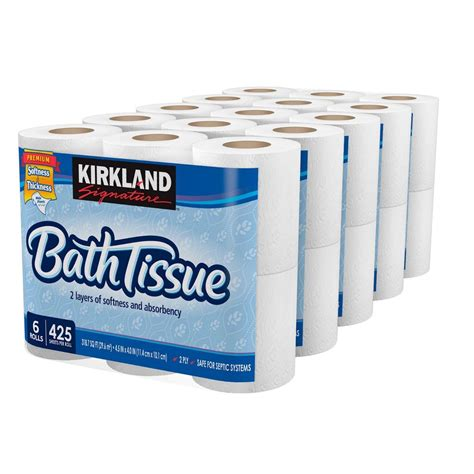 Who Makes Kirkland Signature Toilet Paper - kirkland signature bath tissue 2 ply white 30 count ebay