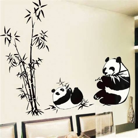 Wall Sticker Wall Stiker Wallsticker Dinding 381 Panda Jerapah wallsticker list transparan panda elevenia