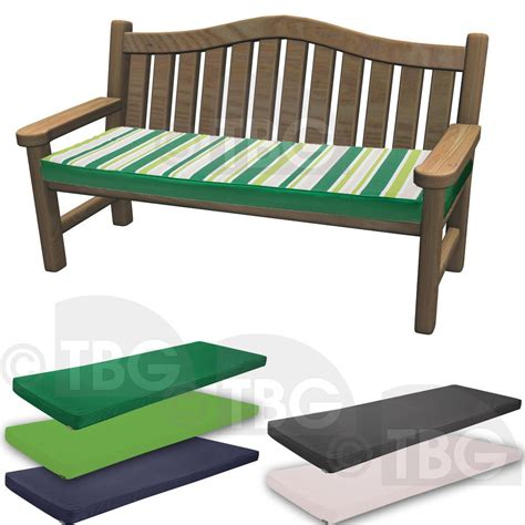 seat cushions for benches outdoor waterproof 3 seater tie on bench pad garden