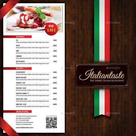 menu brochure template italian restaurant menu brochure by rapidgraf graphicriver