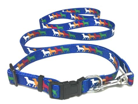 collar and leash set printed collar and leash set large collars leashes