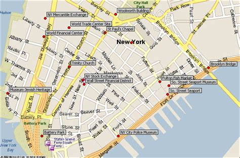 manhattan map of attractions map of manhattan ny