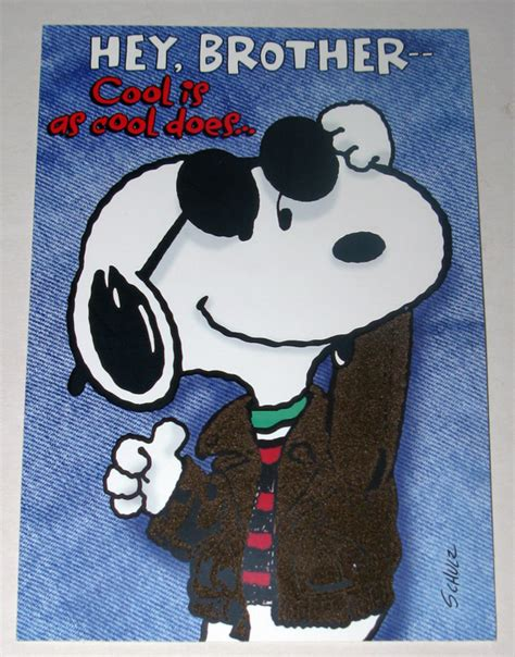 Cool Home Decorations by Snoopy Joe Cool Brother Birthday Greeting Card