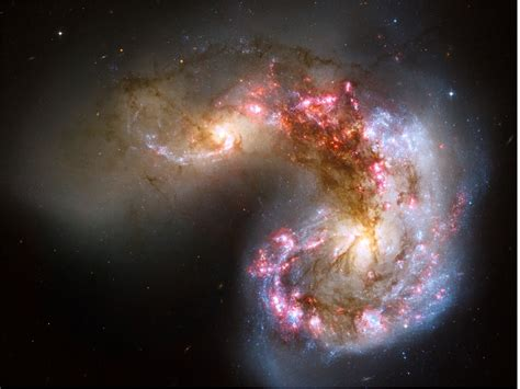 stereoman antennae galaxies ngc  ngc