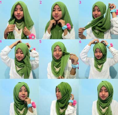 Jilbab Segi Empat Variasi Aneka Cara Memakai Segi Empat Variasi Terbaru Yang