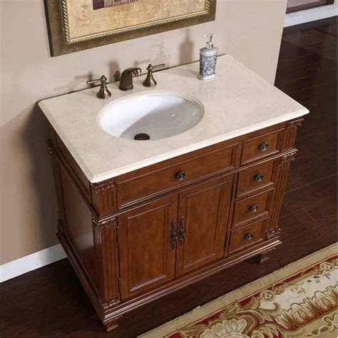 Bathroom Sink Cabinets 36 Quot Perfecta Pa 132 Single Sink Cabinet Bathroom Vanity Cherry Finish Marble Hyp 0210 Cm