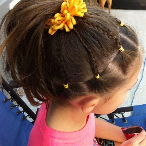 gymnastics picture hair style meer dan 1000 idee 235 n over cute cheer hairstyles op