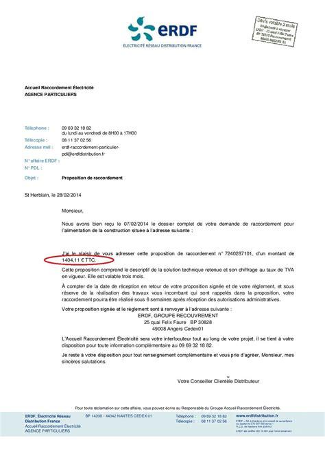 Lettre De Demande D Installation D Un Compteur Electrique Prix Des Raccordements Aux R 233 Seaux Eau Enedis Ex Erdf Et T 233 L 233 Conseils Thermiques