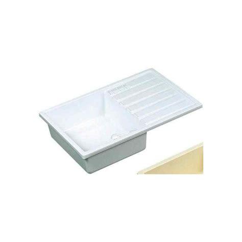 Evier Plastique evier plastique blanc 600x340x135 pour cing car