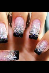 sparkly nails pink and black nails pinterest