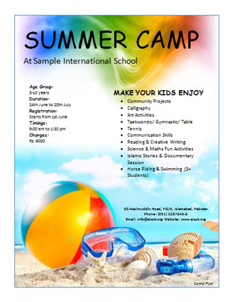 free summer c flyer template 12 free summer c flyer templates demplates