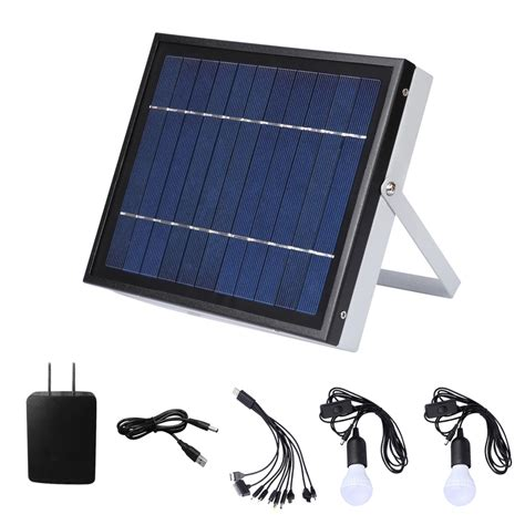 Solar Panel For Outdoor Lights Outdoor Solar Power Panel Led Light L Charger Home System Kit Garden Path Us Ebay