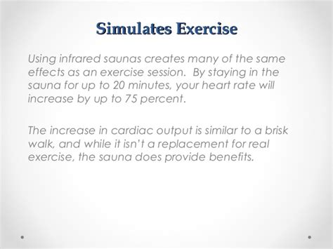7 Health Benefits Of Infrared Saunas by The Health Benefits Of Infrared Saunas