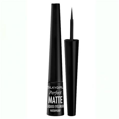 Eyeliner Matte Wardah silkygirl matte liquid eyeliner 01 matte black