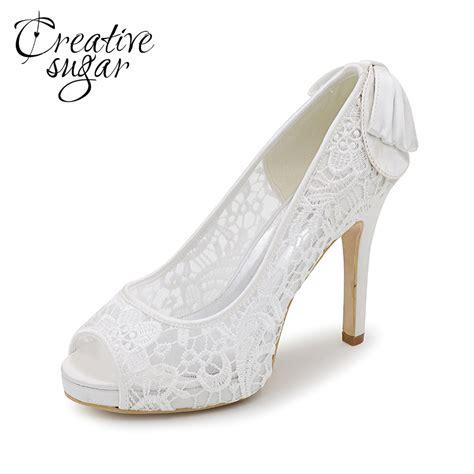 creativesugar see through lace high heels pink black
