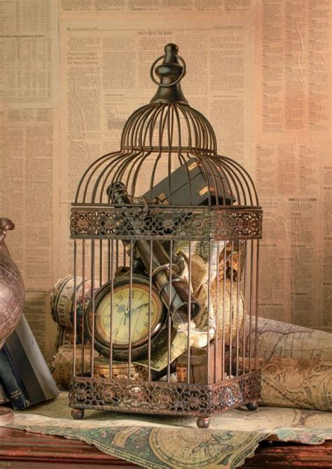 birdcage decorating ideas card holder centerpiece candles