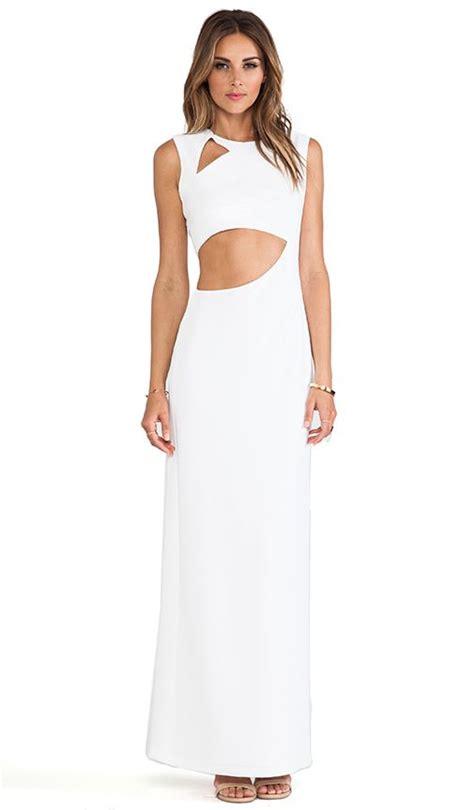 Maxi Kimora bcbgmaxazria kimora cut out maxi dress in white fashion