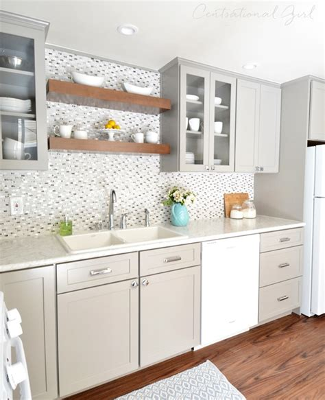 White Grey Kitchen by Gray White Kitchen Remodel Centsational Style