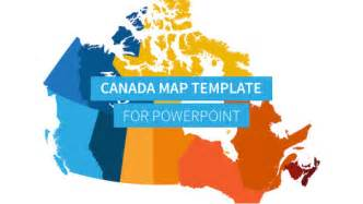 canada map presentation template improve presentation
