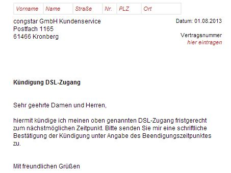 Huk Coburg Schadensmeldung Formular by Congstar Dsl K 252 Ndigen Vorlage Download Chip