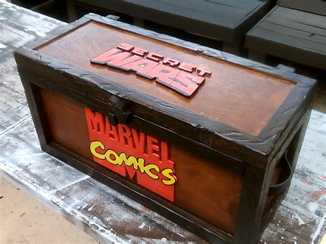 comic book storage cabinet comic book storage box chest secret wars marvel