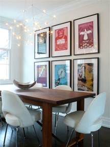 Dining Room Framed How To Decorate Using Posters