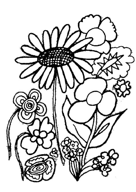 coloring pictures of beautiful flowers flowers coloring pages coloringpages1001 com