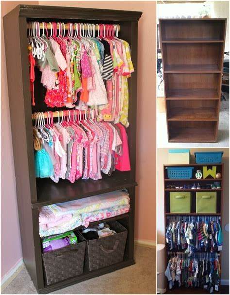 bookcase for baby room re imagine an bookcase into a baby nursery closet