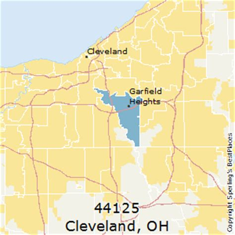 zip code map cleveland best places to live in cleveland zip 44125 ohio